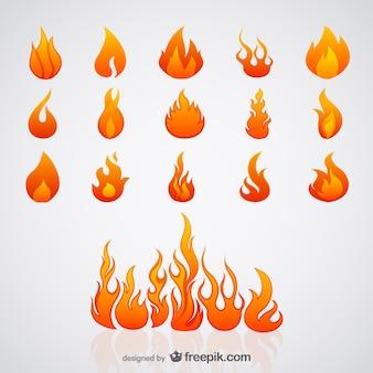 Vecteur de flamme