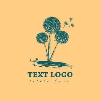 Vecteur de fleur de pissenlit logo mascotte
