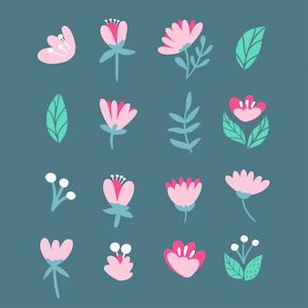 Vecteur de fleurs roses de printemps.