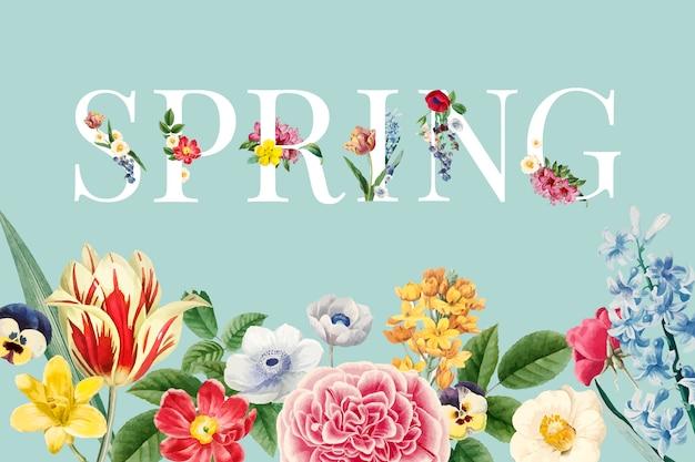 Vecteur floral de printemps