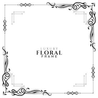 Vecteur de fond abstrait cadre floral