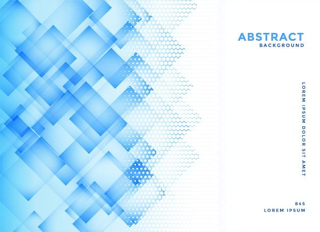 Vecteur de fond abstrait carrés diagonaux bleus