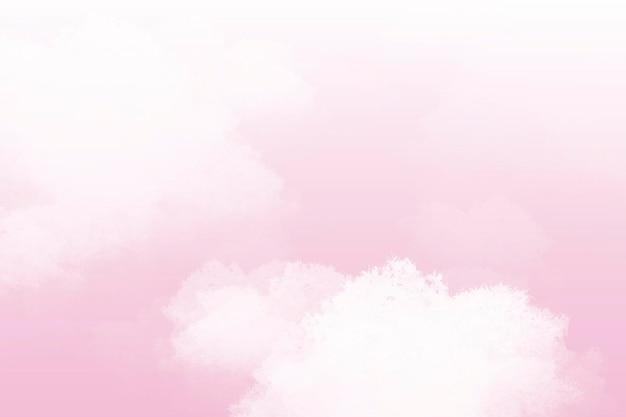 Vecteur de fond abstrait ciel pastel rose