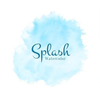 Vecteur de fond abstrait doux bleu aquarelle splash design