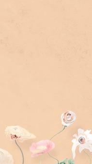 Vecteur de fond abstrait fleur papier peint