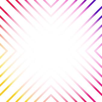 Vecteur de fond abstrait linéaire coloré
