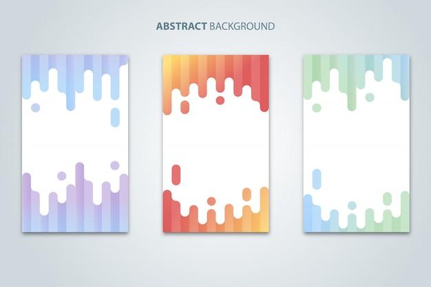 Vecteur de fond abstrait moderne coloré