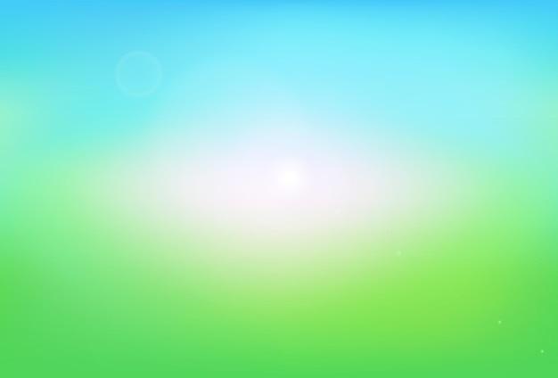 Vecteur de fond abstrait nature dégradé vert flou