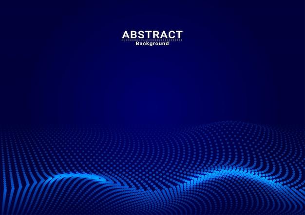 Vecteur de fond abstrait point bleu foncé