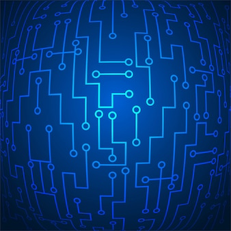 Vecteur de fond abstrait technologie bleu brillant