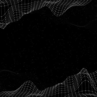 Vecteur de fond abstrait vague 3d