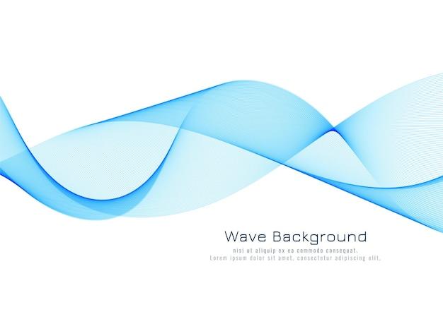 Vecteur de fond abstrait vague bleue dynamique