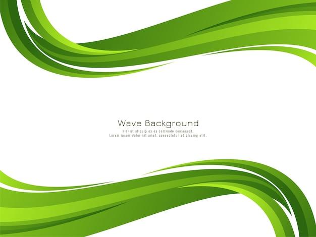 Vecteur de fond abstrait vague verte moderne design