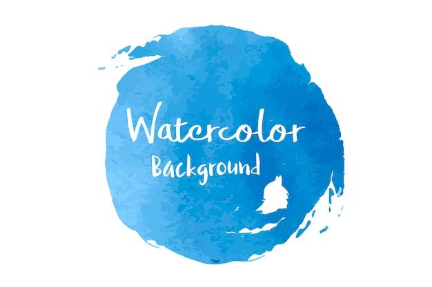 Vecteur de fond aquarelle bleu pastel
