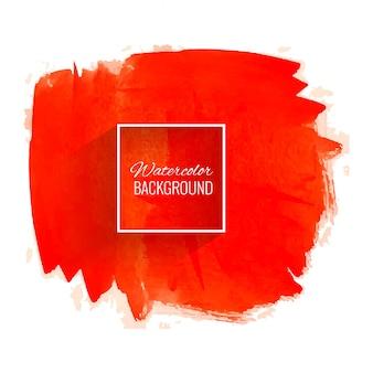 Vecteur de fond aquarelle rouge abstrait