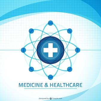 Vecteur de fond l'art médical