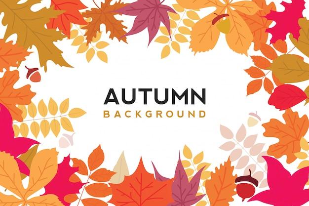 Vecteur de fond automne