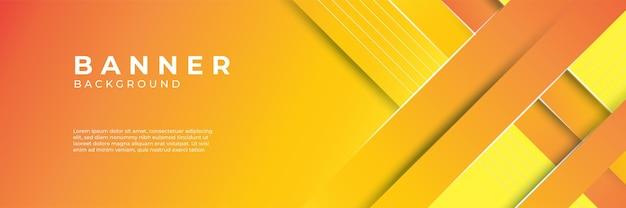 Vecteur de fond bannière abstrait orange tendance moderne. composition de formes de dégradé fluide. affiches de design futuriste.