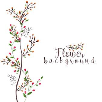 Vecteur de fond beauté fleur