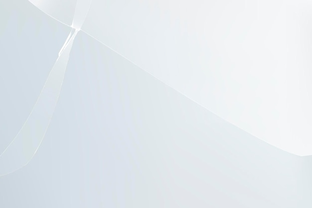 Vecteur de fond blanc avec effet de verre brisé