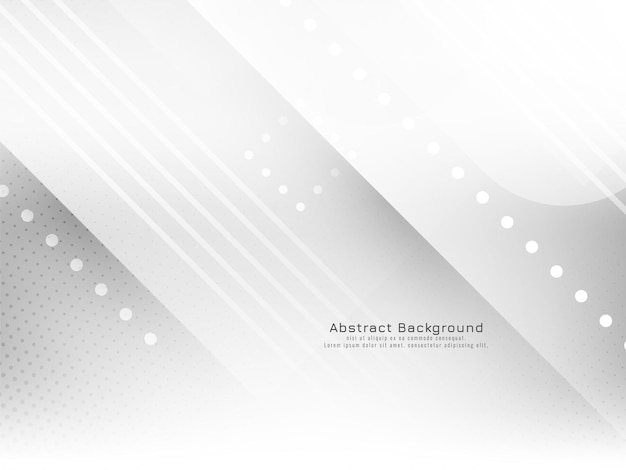 Vecteur de fond blanc élégant style rayures géométriques lumineuses