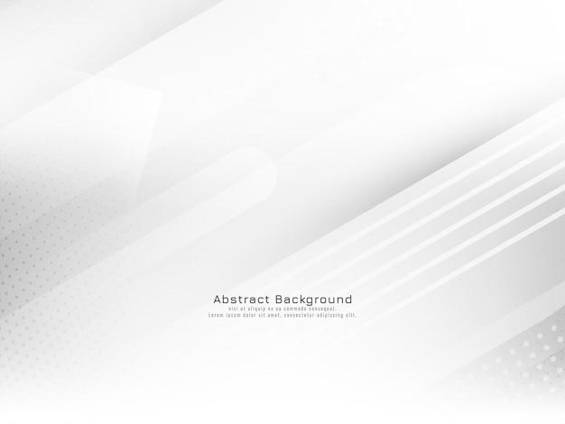 Vecteur de fond blanc de style géométrique rayures brillantes modernes