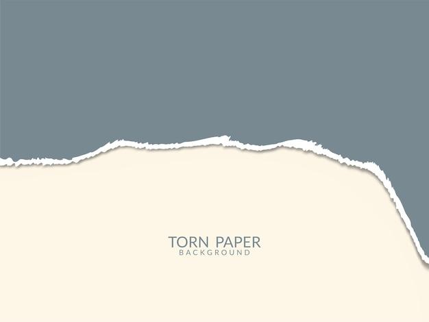Vecteur de fond blanc de style papier déchiré couleur pastel