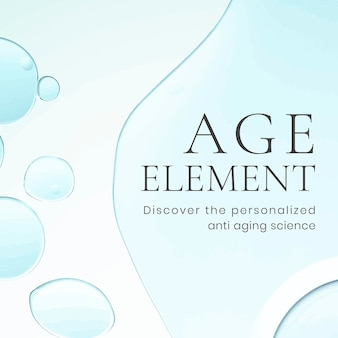 Vecteur de fond de bulle d'huile de modèle de publication facebook, texte d'élément d'âge