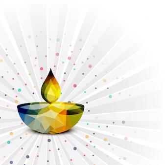 Vecteur de fond coloré décoratif élégant joyeux diwali