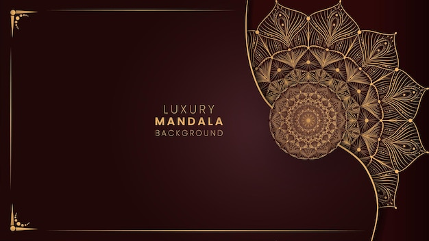 Vecteur de fond de conception de mandala ornemental de luxe