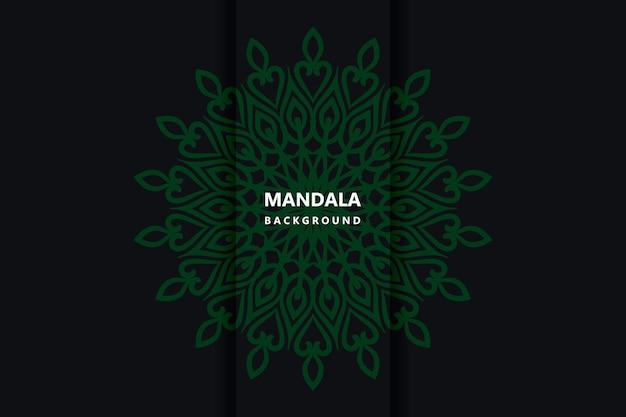 Vecteur de fond de conception de mandala ornemental