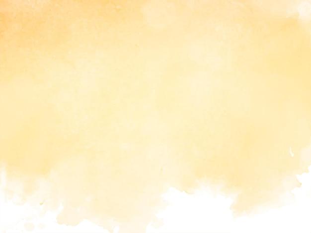 Vecteur de fond de conception de texture aquarelle jaune élégant