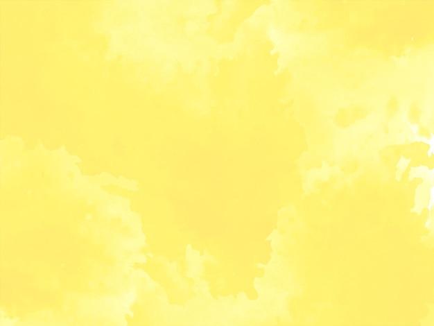 Vecteur de fond de conception de texture aquarelle jaune vif