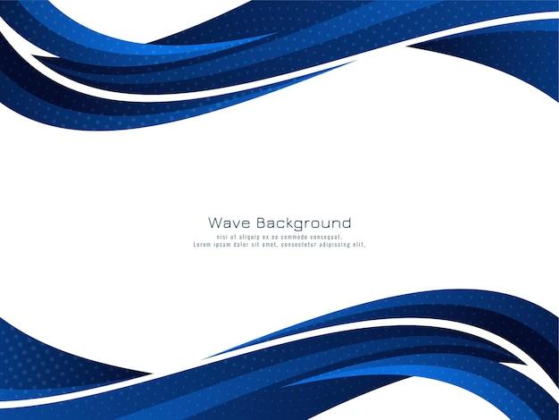 Vecteur de fond décoratif design vague bleue moderne