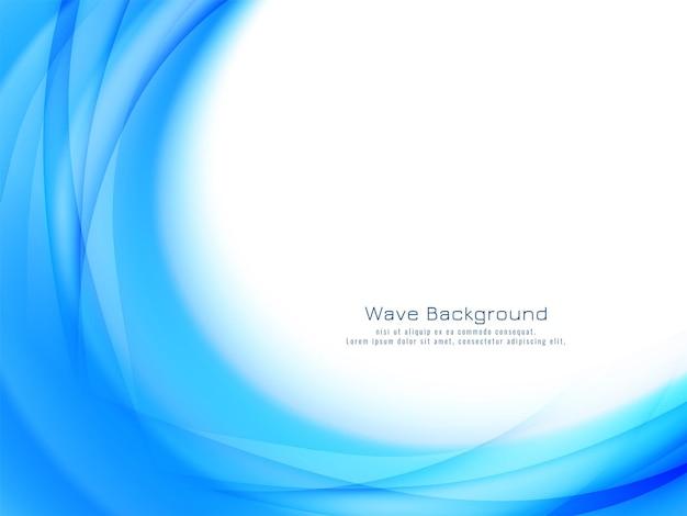 Vecteur de fond décoratif moderne belle vague bleue