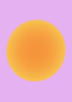 Vecteur de fond dégradé vague esthétique avec rose et orange