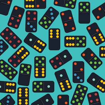 Vecteur de fond domino