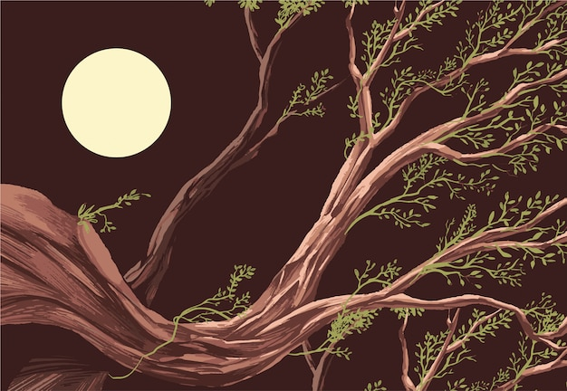 Vecteur de fond d'écran de branche d'arbre