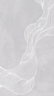 Vecteur de fond d'écran gris ligne abstraite cadre téléphone mobile