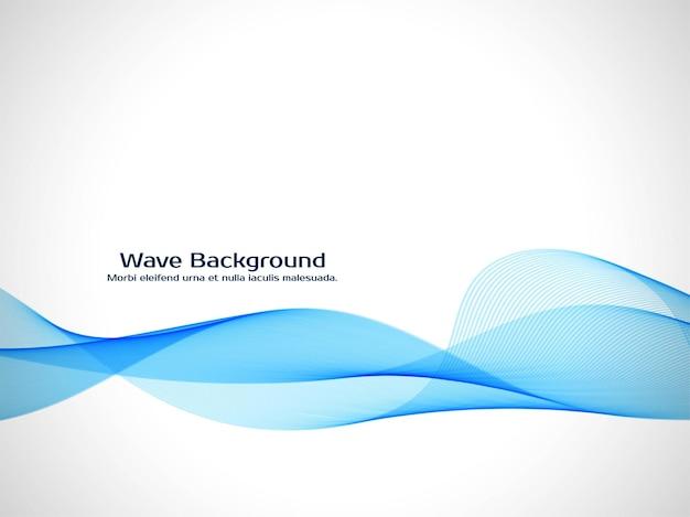 Vecteur de fond élégant abstrait vague bleue