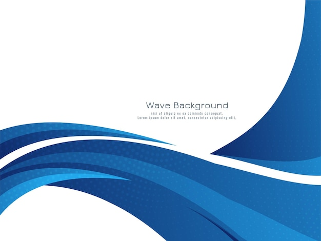 Vecteur de fond élégant design vague bleue moderne élégant