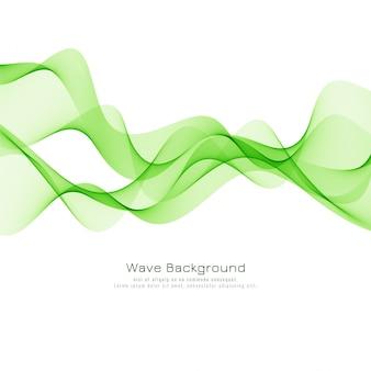 Vecteur de fond élégant vague verte décorative