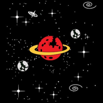 Vecteur de fond de l'espace