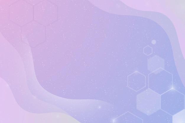 Vecteur de fond esthétique avec des hexagones