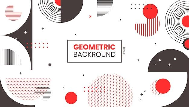 Vecteur de fond géométrique abstrait.