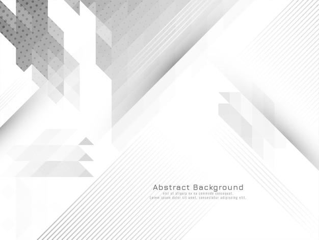 Vecteur de fond géométrique gris et blanc moderne élégant
