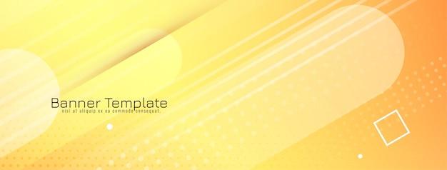 Vecteur de fond géométrique moderne de couleur jaune abstrait