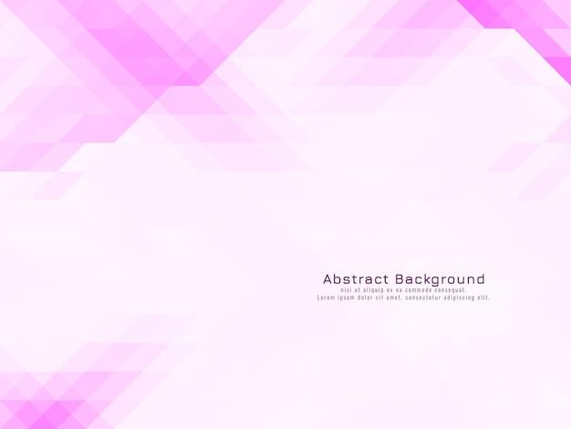 Vecteur de fond géométrique mosaïque rose triangulaire