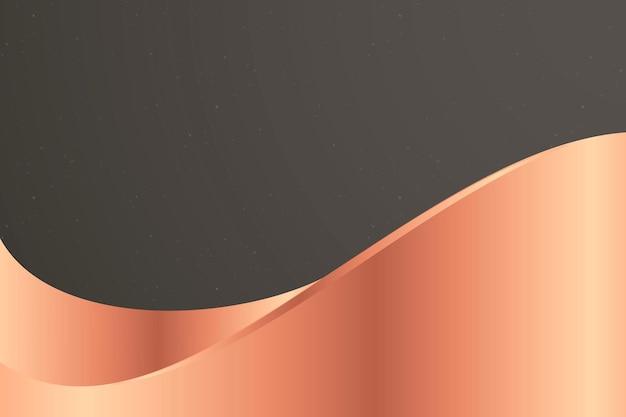 Vecteur de fond gris foncé avec vague de cuivre