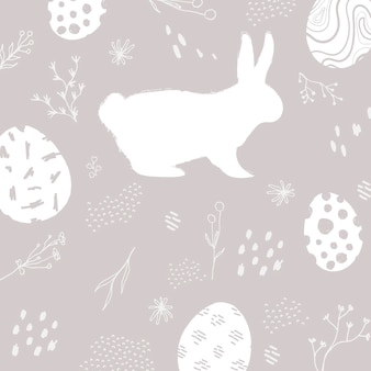 Vecteur de fond gris neutre motif de pâques